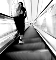 up the down escalator